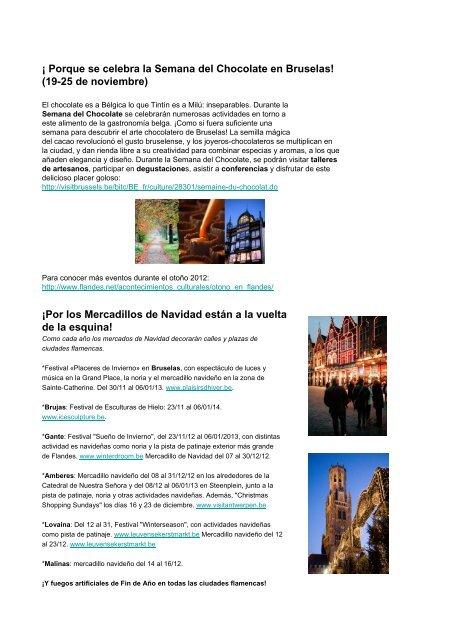 Novedades de Flandes otoño 2012 - Flandes y Bruselas