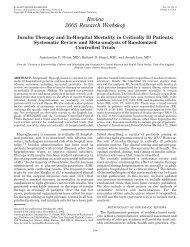 Review 2005 Research Workshop - Friedman Diabetes Institute