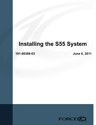 Installing the S55 System - Force10 Networks