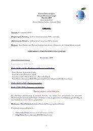 Biuro Rejestracji Gości: Godz. 16.00 – 16.30 – Konferencja Prasowa ...