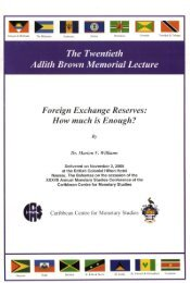 Foreign Exchange Reserves - Caribbean Centre for Money and ...