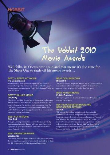 The Hobbit 2010 Movie Awards - SMA News