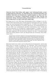 Pressemitteilung zum Eilantrag der Gemeinde Sankt Peter-Ording ...