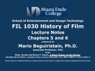 FIL 1030 History of Film - MDC Faculty Home Pages