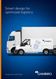 Smart design for optimized logistics - Gambro