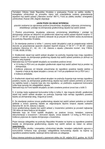 Interno - službeno - Fond za zaštitu okoliša i energetsku učinkovitost