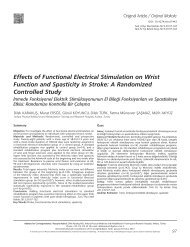 Effects of Functional Electrical Stimulation on Wrist ... - FTR Dergisi