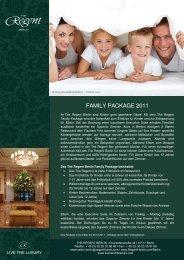 FAMILY PACKAGE 2011 - Friedrichstrasse.de