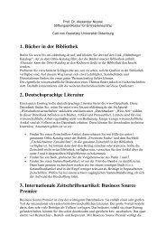 1. Bücher in der Bibliothek 2. Deutschsprachige Literatur 3 ...