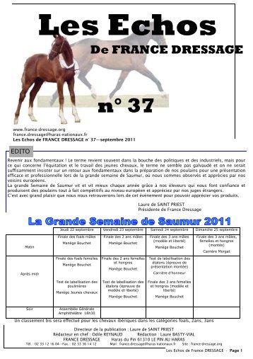 Les Echos N° 37 (pdf) - France Dressage