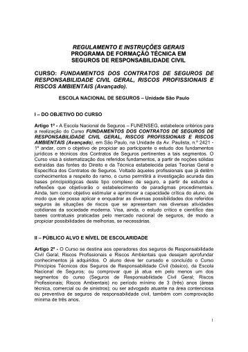 regulamento e instruções gerais programa de formação técnica em ...