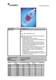 Informationsblad GSF Produktnamn SelectBag One ... - Gambro