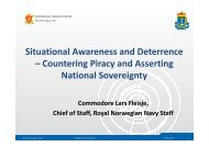 Situational Awareness and Deterrence – Countering Piracy ... - FSi