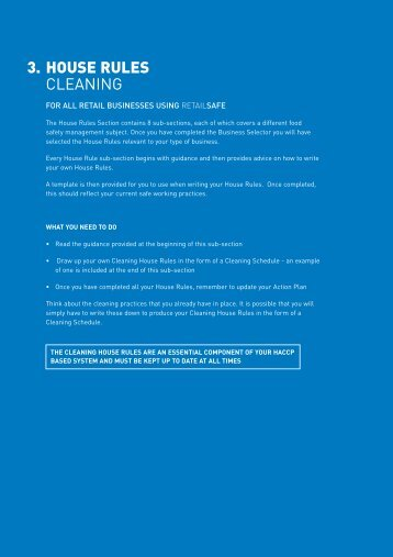 3. HOUSE RULES CLEANING