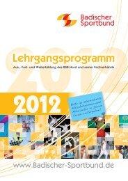 Fachverbände - Badischer Sportbund Nord ev