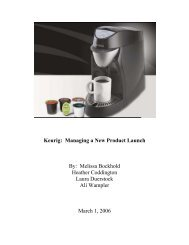 Keurig: Managing a New Product Launch By ... - Franklin College
