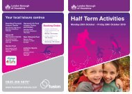 Half Term Activities - Fusion Lifestyle