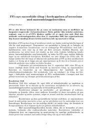 FN's nye succesfulde tiltag i forebyggelsen af terrorisme med m