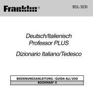 Deutsch/Italienisch Professor PLUS Dizionario Italiano/Tedesco