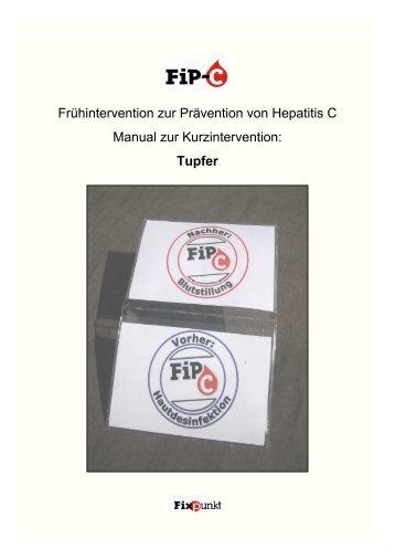 Frühintervention zur Prävention von Hepatitis C Manual zur ...