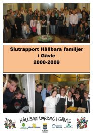 Slutrapport 2008-2009 - Gävle kommun