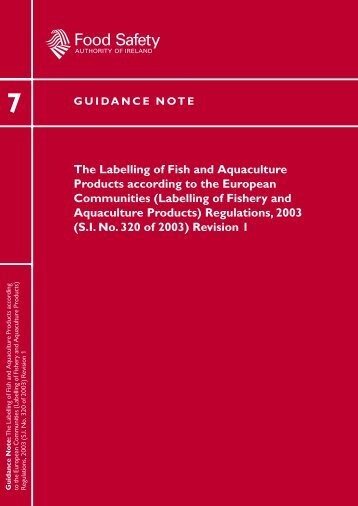 Guidance Note No. 7 - The Food Safety Authority of Ireland