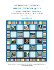 The Patchwork Quilt - Post-Disaster Reconstruction
