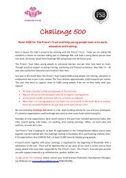 Challenge 500 - Federation of Small Businesses