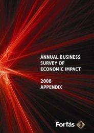 annual business survey of economic impact 2008 appendix - Forfás