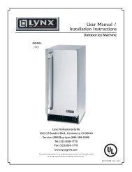 Lynx Grill Eiswürfelmaschine Outdoorküche - Gardelino