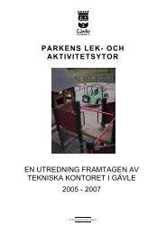 Lekplatsutredning - Gävle kommun