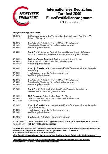 Internationales Deutsches Turnfest 2009 FlussFestMeilenprogramm ...