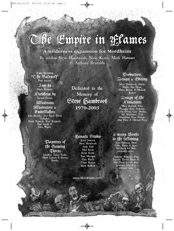 The Empire in Flames The Empire in Flames