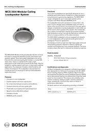 MCS 3500 Modular Ceiling Loudspeaker System