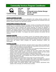 Community Services Program Coordinator - City of Gaithersburg