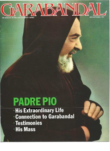 Padre Pio Special Edition - Garabandal