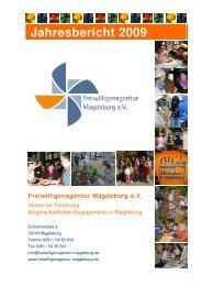 Jahresbericht 2009 - Freiwilligenagentur Magdeburg