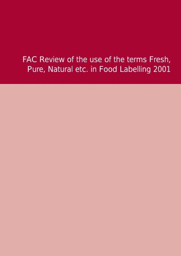 3897 FAC Labelling Report 3rd - Food Standards Agency