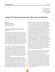 Pneumoperitoneums: offen oder geschlossen? - Frauenheilkunde ...
