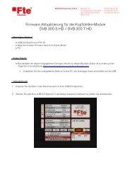 Firmware Aktualisierung für die Kopfstellen-Module ... - FTE Maximal