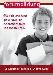 P lus de chances pour tous, en apprenant avec les ... - Forum Bildung