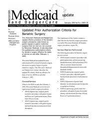 Updated Prior Authorization Criteria for Bariatric ... - Wisconsin.gov