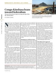 Congo-Kinshasa leans toward federalism - Forum of Federations