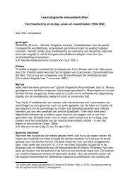 Lexicologische nieuwsberichten - Fryske Akademy