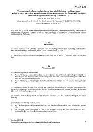 Verordnung des Innenministeriums über die Erhebung von Kosten ...