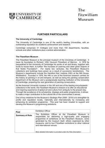 Further details - The Fitzwilliam Museum - University of Cambridge
