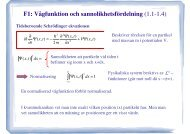 F1: Vågfunktion och sannolikhetsfördelning (1.1-1.4)