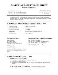 Protanal® LF 5/60 Alginate - FMC Corporation