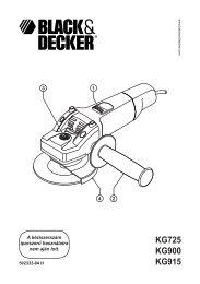KG725 KG900 KG915 - Service - Black & Decker
