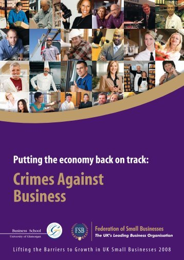 Putting the economy back on track Crimes Against Business